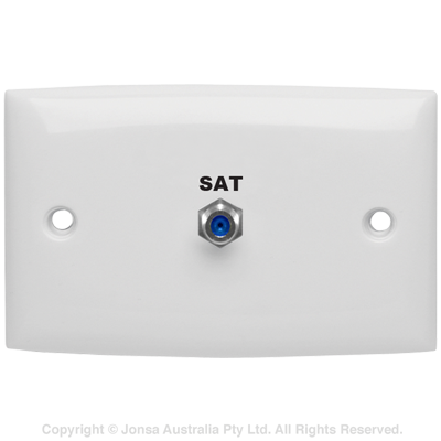 OUTLET WALLPLATE F FEMALE TO F FEMALE 3 GHz MARKED: SAT